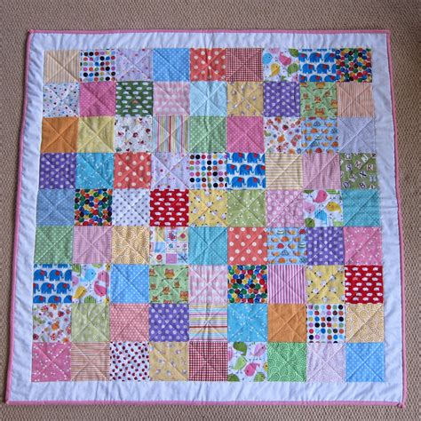 Patchwork Coverlet - the pink button tree make a patchwork quilt in a weekend