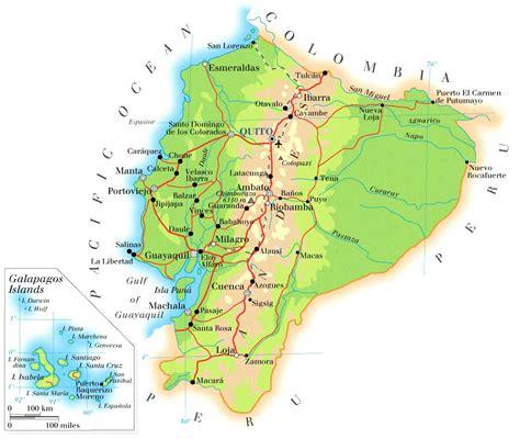 ecuador on map maps of ecuador map library maps of the world