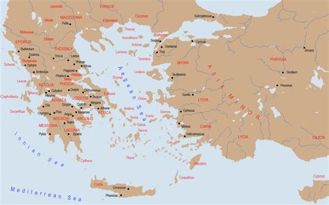 asia minor map geographia map of greece and asia minor