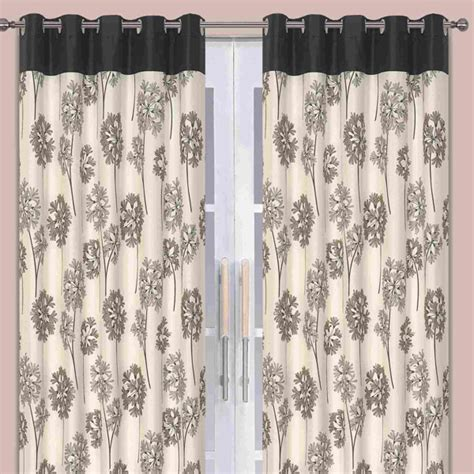 natural and black curtains allium black natural eyelet curtains harry corry limited