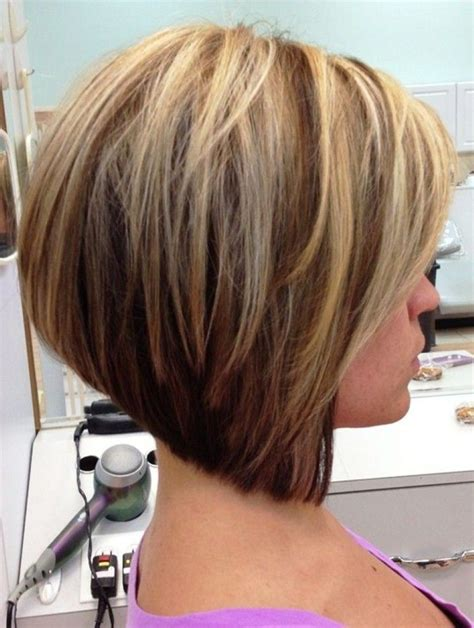 stacked bob haircut for women over 40 stacked inverted bob hairstyles stacked layered bob