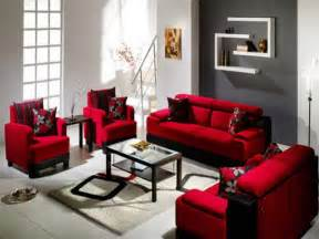 Decorating ideas for living room with red couch modern interior