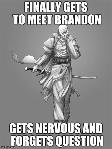 Brandon Meme - brandon sanderson meme across the sanderverse cosmere