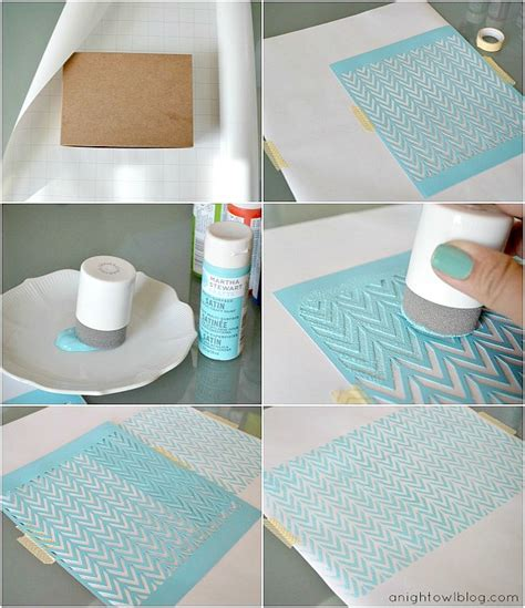 Craft Paper Wrapping Ideas - diy stenciled wrapping paper with martha stewart crafts
