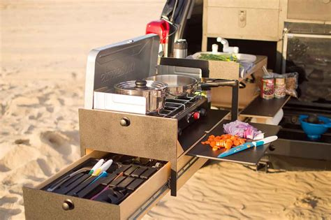 Truck Bed Drawer Slides by Slide Out Truck Kitchen For Overland Vehicles