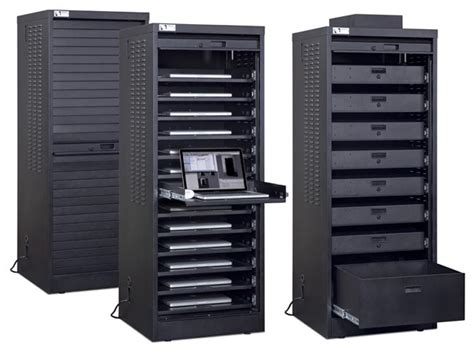 Computer Storage Cabinet with Data Link Associates Inc 187 Laptop Cabinets