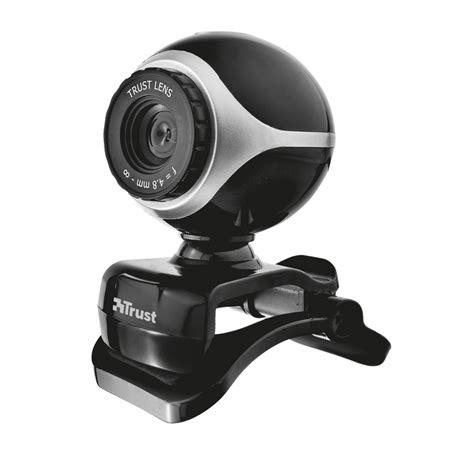 web con cam webkamera trust exis webcam black silver pcmania sk
