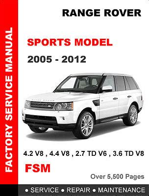land rover range rover sport 2005 2012 factory workshop service repair manual for sale range rover sport l320 2005 2013 workshop repair and service manual eur 6 14 picclick be