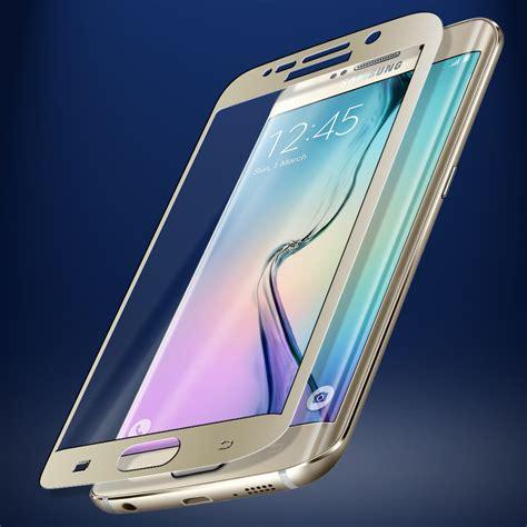 s6 samsung screen skinomi tech glass samsung galaxy s6 edge coverage gold screen protector