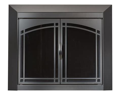 fairmont black fireplace doors medium replacement
