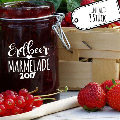 Etiketten Wm Marmelade by Aufkleber F 252 R Marmelade Etikett Marmeladenglas Erdbeer