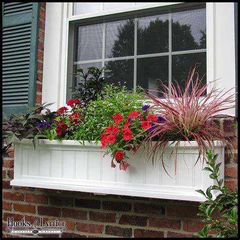 white window box shop save promenade white wall planter hooks lattice
