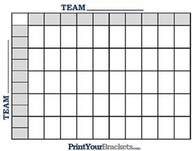 Football Square Board Template by Printable Nfl Football 50 Square Grid Office Pool
