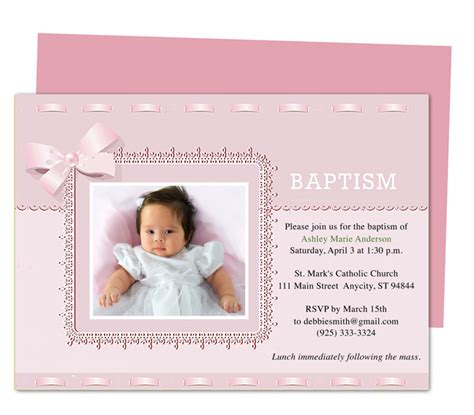 my publisher templates printable diy baby baptism invitation templates