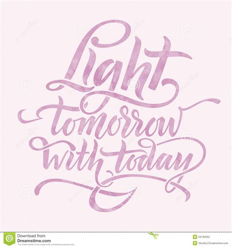 what is light tomorrow light tomorrow with today stock vector image 53130352