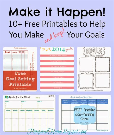 3 Free Printables To Help You Smash Your 2017 Goals Pinspired Home Make It Happen 10 Free Printables To Help You Meet Your Goals