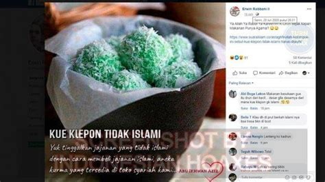 terkuak awal mula isu kue klepon tidak islami muncul