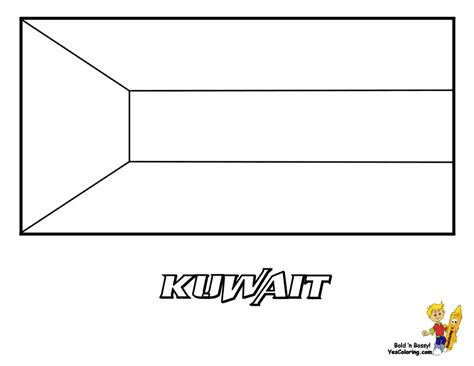 kuwait flag free colouring pages