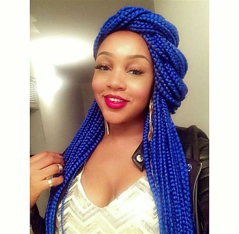 girls hair block braiding styles blue box braids black girl magic hair pinterest