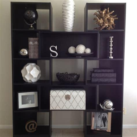 modern home decor items puzzle bookcase living room decor black and white