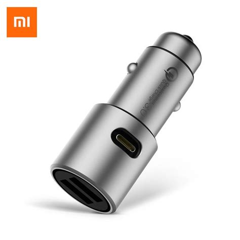Tronsmart Car Charger Qc 3 0 Dual Port Type A And C xiaomi mi car charger qc 3 0 fast charge version torumart pakistan