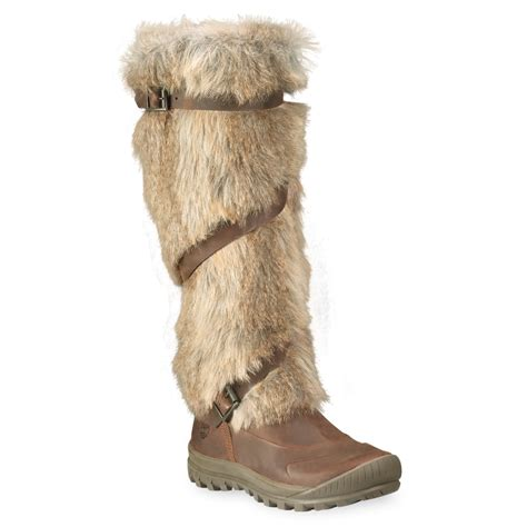 boots with fur timberland earthkeepers mount faux fur boot