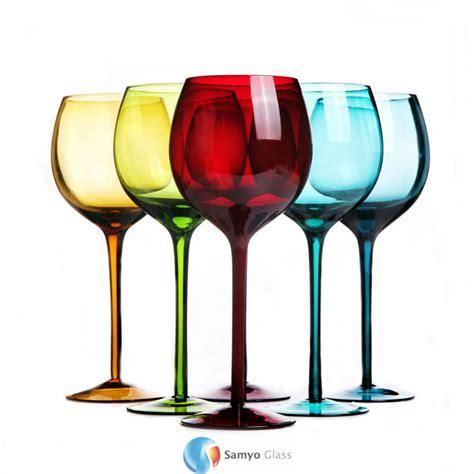 colored stemless wine glasses colored wine glasses sosfund