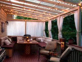 decor tips patio overhang and string patio lighting