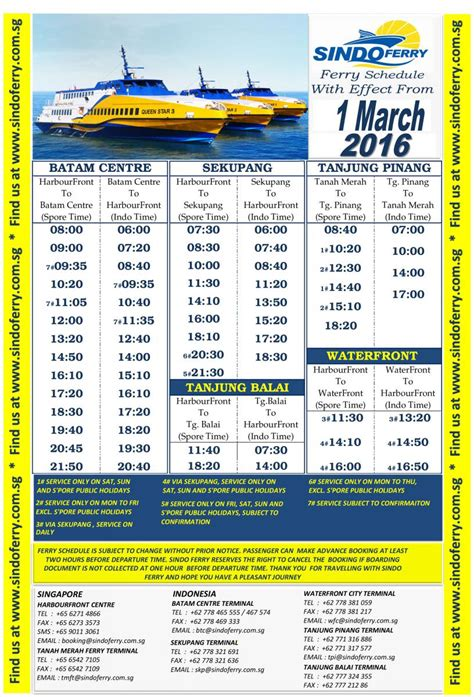 Etiket Batam To Singapore Sindo Ferry All In Tax 1way new ferry schedule with effect from 1st march 2016 sindo ferry travel on our new fast ferries