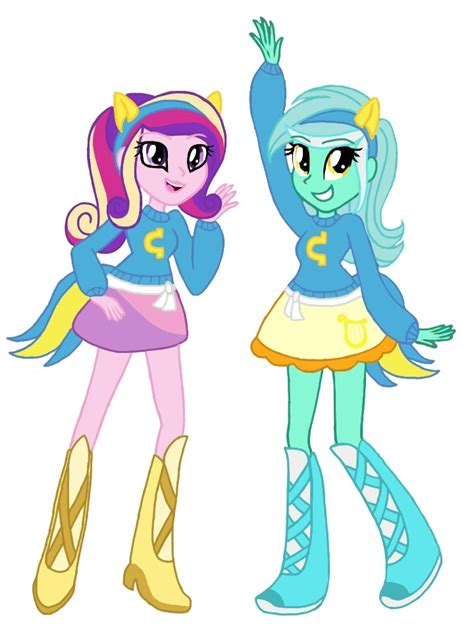 my little pony princess cadence equestria girls canterlot wondercolts cadence and lyra by colorpaletpony