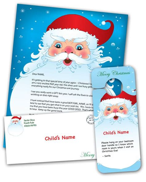 printable personalized letters from santa print a free personalized letter from santa to your child