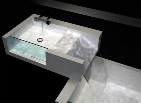 waterfall kitchen sink bathroom waterfall combined sink bathtub design