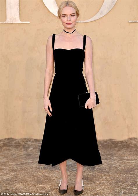 kate bosworth stuns  black dress  dior event daily