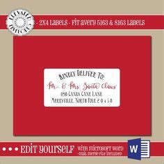 2x4 Address Label Template