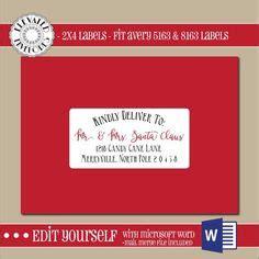 2x4 Address Label Template