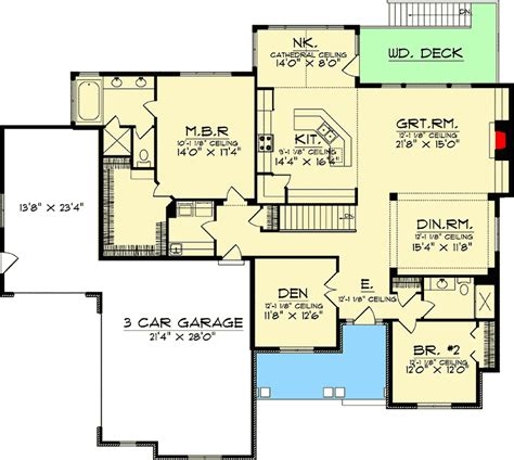 Nestled On A Rear Sloping Lot 89002ah Architectural House Plans For Sloping Lots In The Rear
