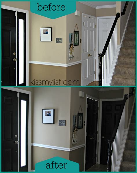 Painting Interior Doors Black Before And After Painting Front Door Black Studio Design Gallery