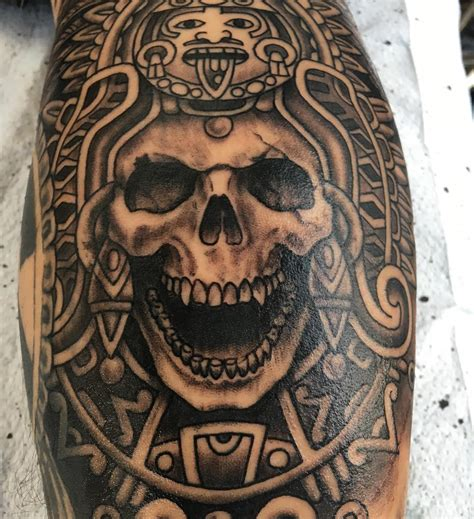aztec skull tattoos 100 best aztec designs ideas meanings in 2018