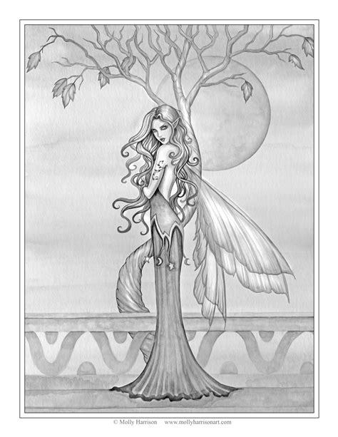 mermaids grayscale coloring book coloring books for adults books the and of molly harrison official