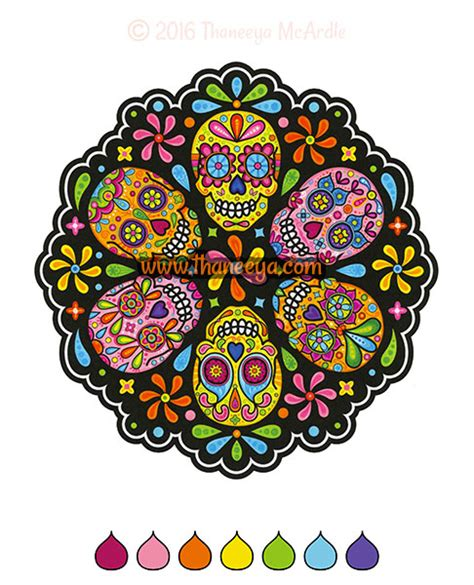 %name where to buy coloring books   Sugar Skulls Coloring Book by Thaneeya McArdle ? Thaneeya.com