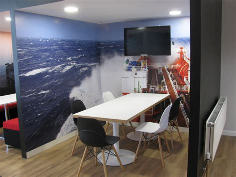 office kitchen seating area office refurbishment wave office