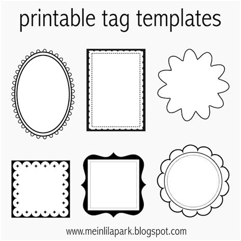 Free Printable Tag Templates For Diy Tags Ausdruckbare Etiketten Freebie Meinlilapark Free Templates For Labels And Tags