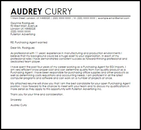 Patent Agent Cover Letter – Patent Attorney Cover Letter Sample   LiveCareer