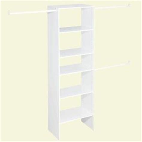 Closetmaid Wood Closet Systems Closetmaid Selectives 25 In White Custom Closet Organizer