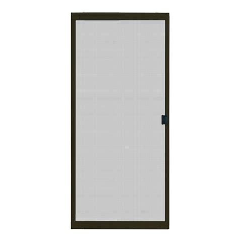 Screen For Patio Doors Odl 36 In X 97 In Brisa Bronze Retractable Screen Door Brtlbe The Home Depot