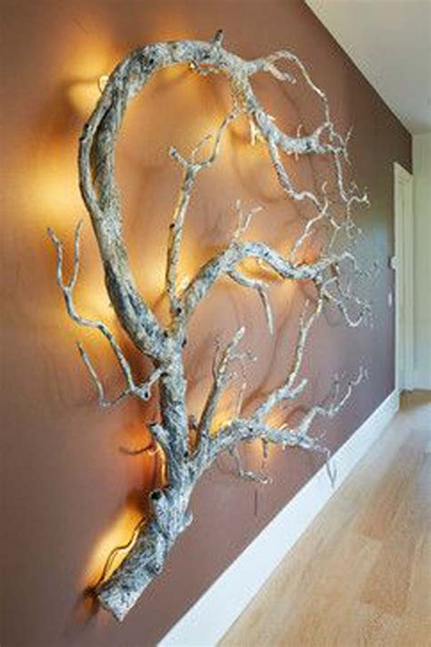 lighted tree branches home decor 30 fantastic wall tree decorating ideas that will inspire