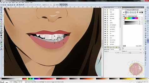 vector graphics tutorial inkscape inkscape vector art time lapse face portrait speed drawing