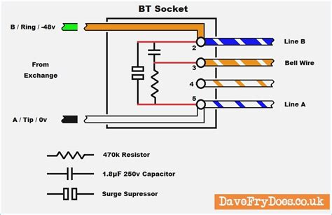 wiring diagram for telephone socket wiring diagram manual