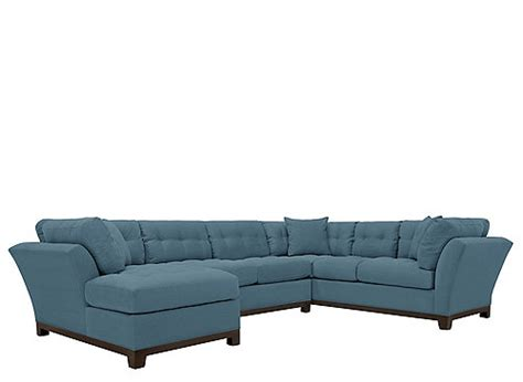 cindy crawford metropolis 3pc sectional cindy crawford home metropolis 3 pc microfiber sectional