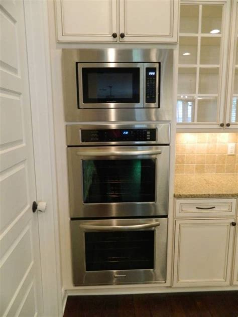 double wall oven cabinet separate microwave and double oven bimpe s house